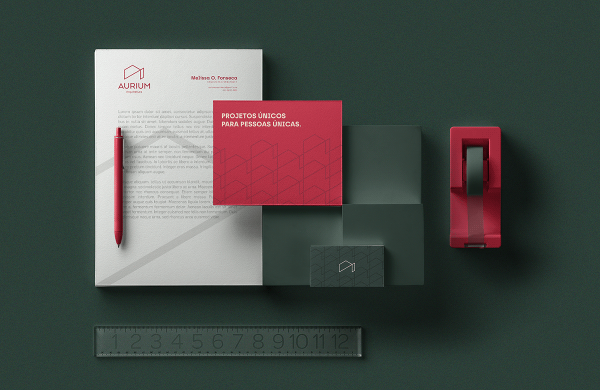 architecture ARQUITETURA brand identity branding  color Logotype stationery branding visual identity