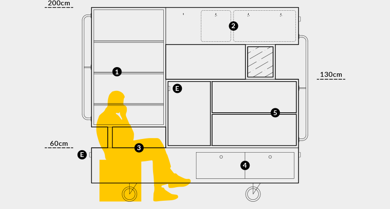 divider furniture Interior wood cabinet bookcase metal plywood Shelf Unit wheels Retro