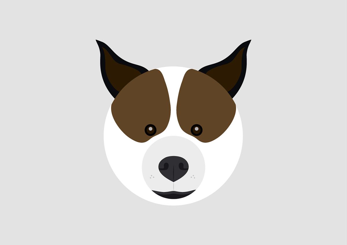 Ilustração vetor cachorro leão porco pig lion dog Urso panda bear