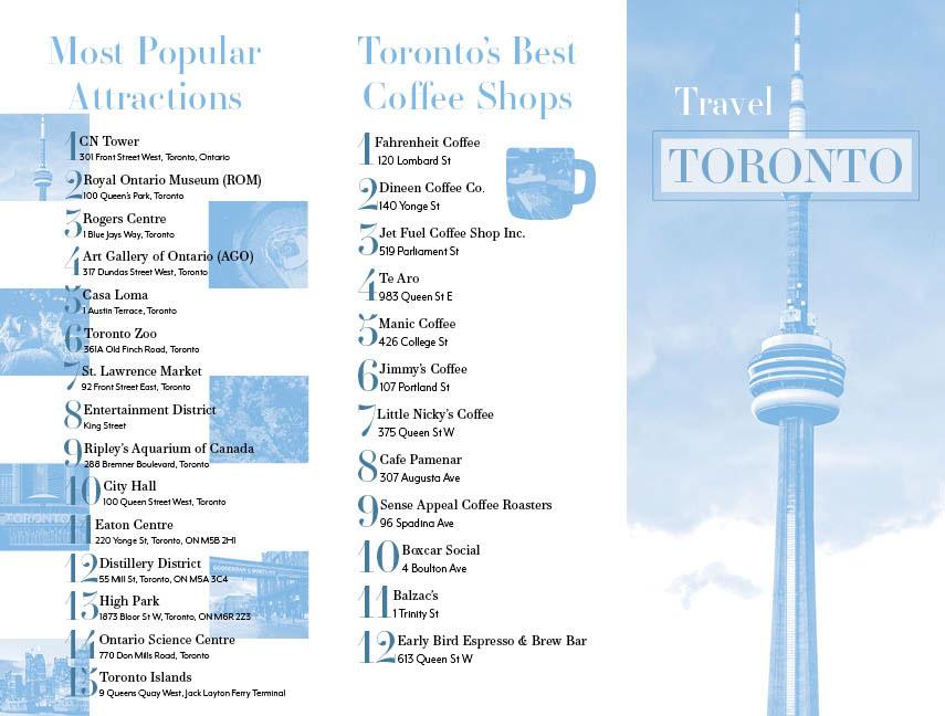 Travel Brochure For Toronto On Behance