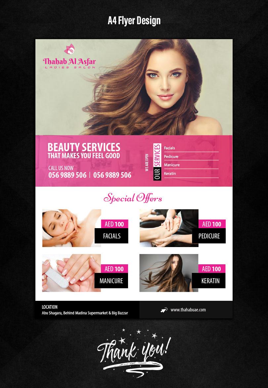 Beauty Parlour Flyer Design Free Template Ppt Premium Download 2020
