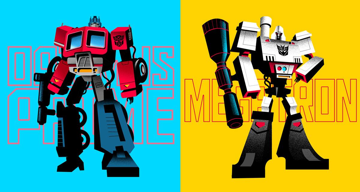 Transformers autobots decepticons optimus prime megatron Character design