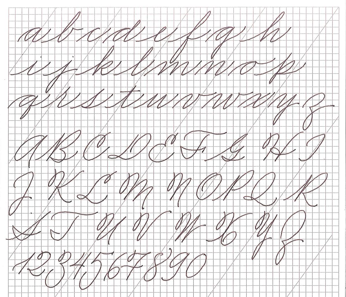 American Cursive Handwriting On Behance