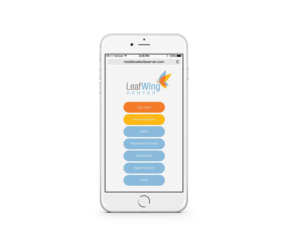 LeafWing Center Mobile Mockup