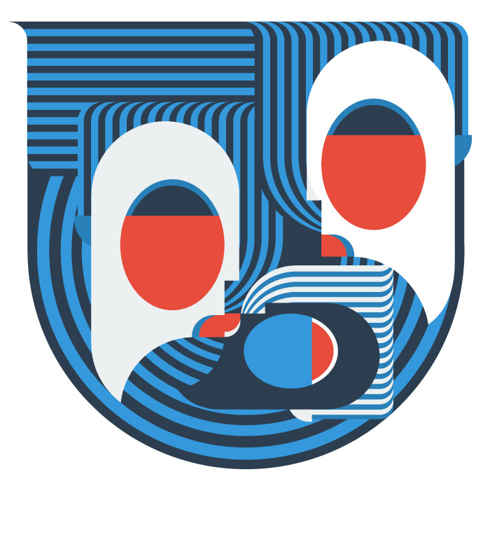 Illustrator blue nautical
