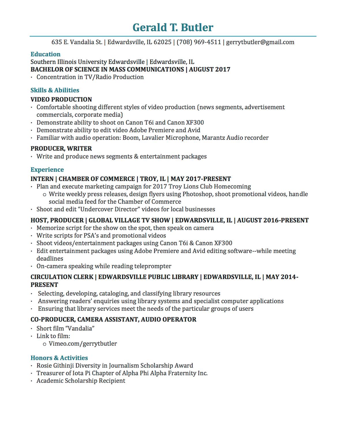 resume on behance