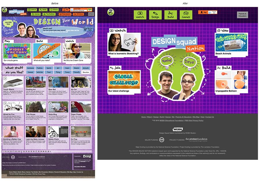 Design Squad Website >> Design Squad Redesign On Behance