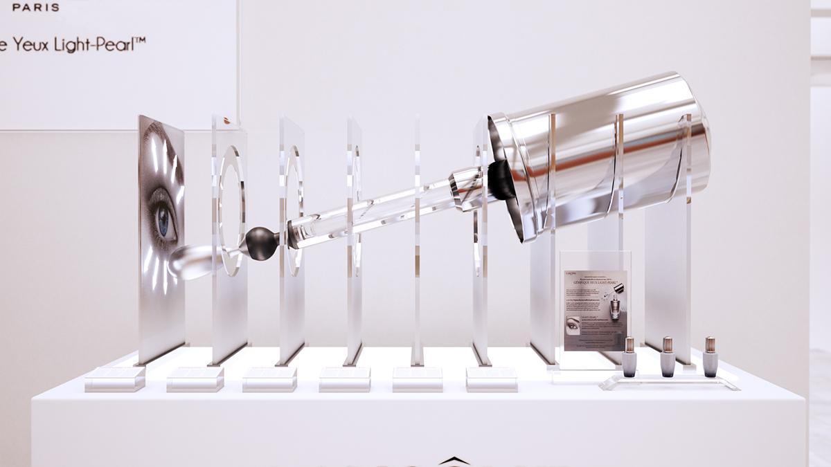 Bàn trưng bày Lancome Genifique Light Pearl - Công ty TNHH Quảng cáo Minh Thành L.H.P