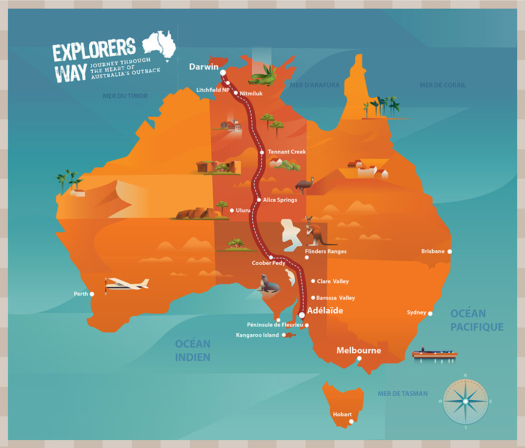 Australia Map 1700.Animated Map Of Australia 2018 On Behance