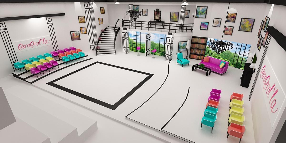 Design Shows On Tv Amusing Fox Tv Esra Erol Tv Show Stage Design 2014 On Behance Decorating Design