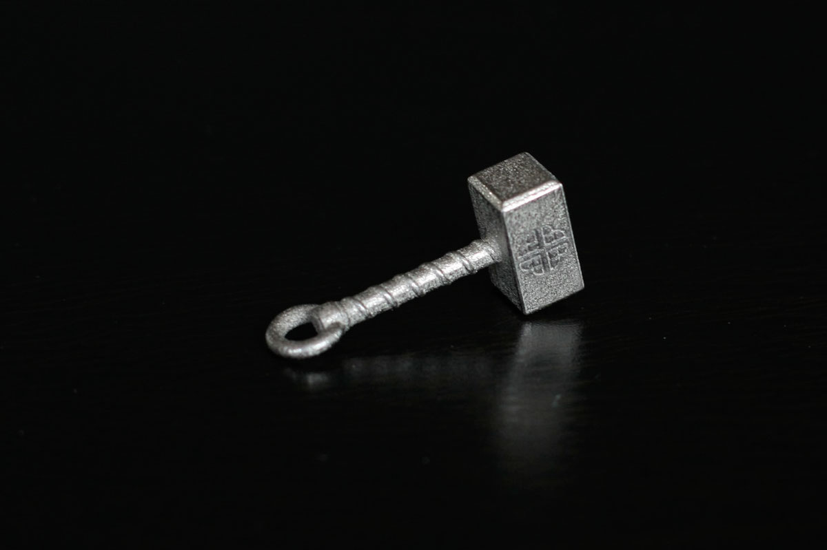 Necklace pendant Thor hammer 3DP