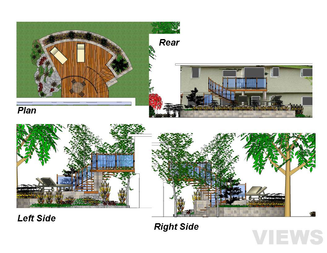 Elevation Plan Sketchup : Sketchup pro for landscape design on behance