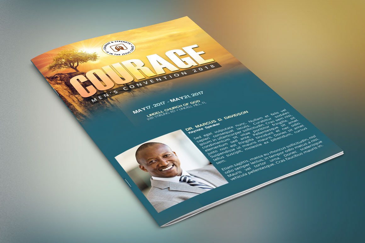 church conference program cover template on behance