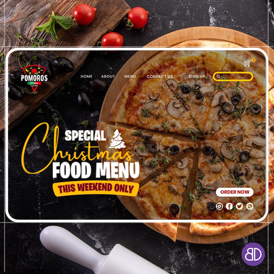 Konsept kreatif Pizza reklamcılık SOSYALMEDYAYÖNETİMİ UI ux uxui Webdesign Website