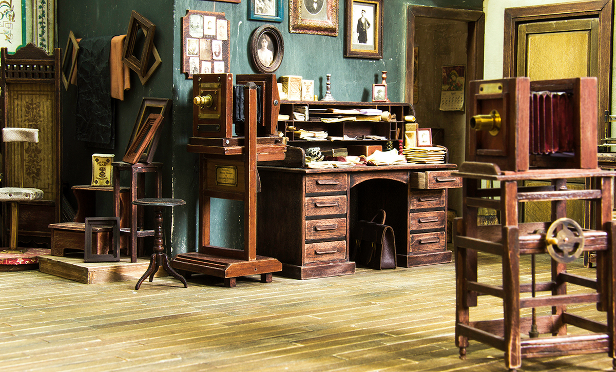 Re-creation of Miniature Photography Studios from the 1900s