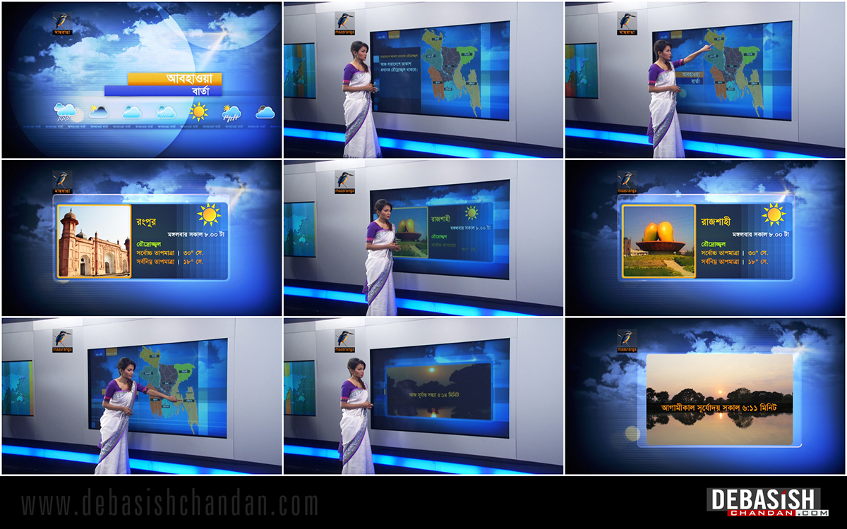 On Line Graphics motion graphic Broadcast Graphics weather graphics