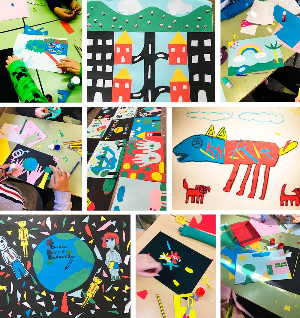 colorful ILLUSTRATION  kids Mural school streetart wallpainting Workshop