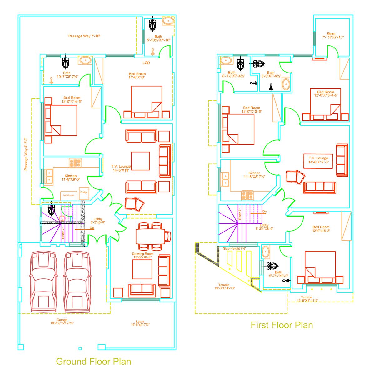 Home Design For 10 Marla: 10 Marla Residential House Plan On Behance