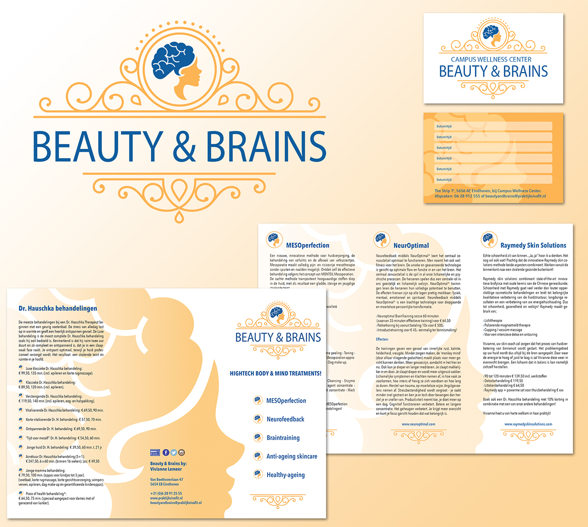 beauty & brains Logo Design