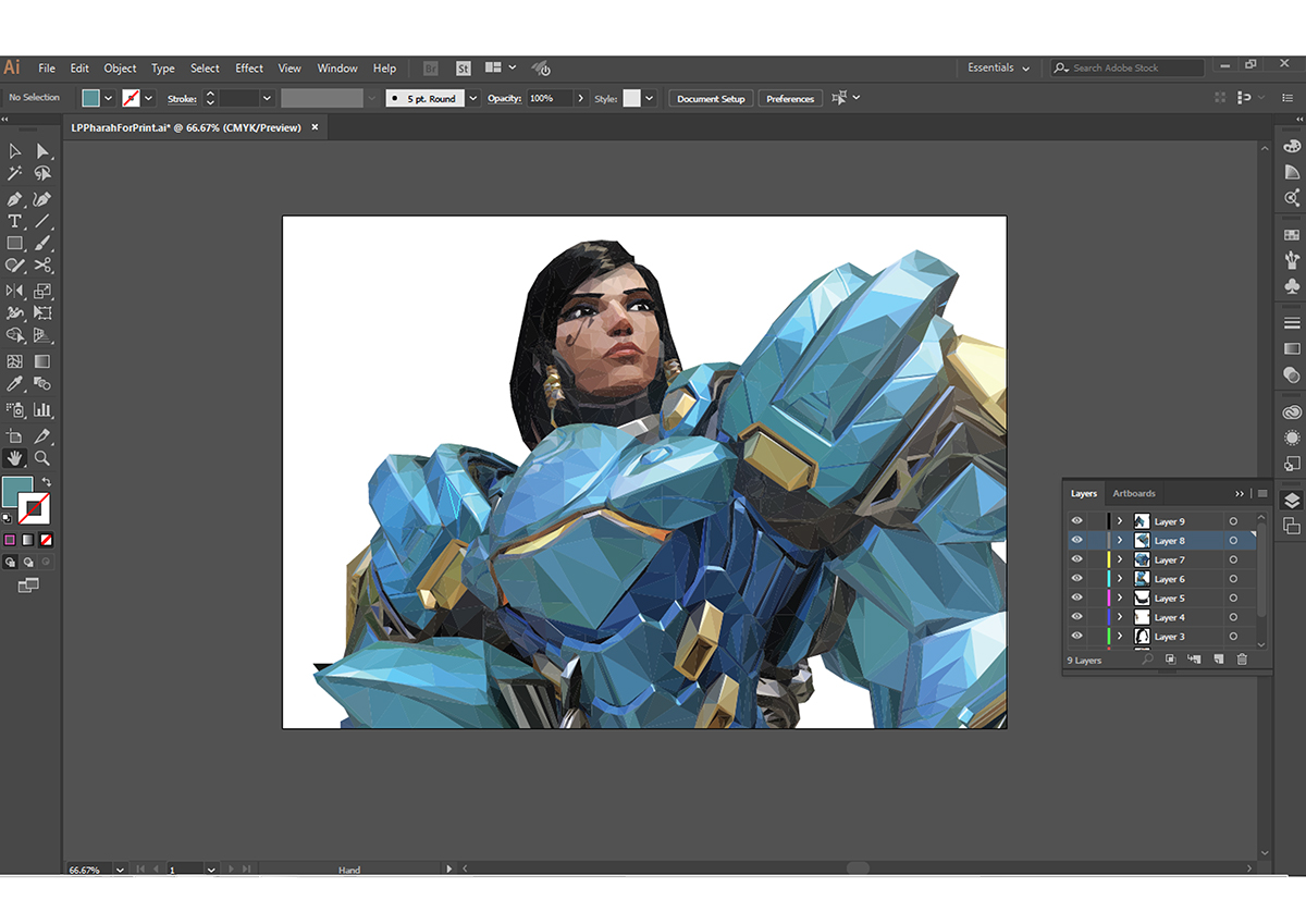 Overwatch - Low Poly Pharah on Student Show