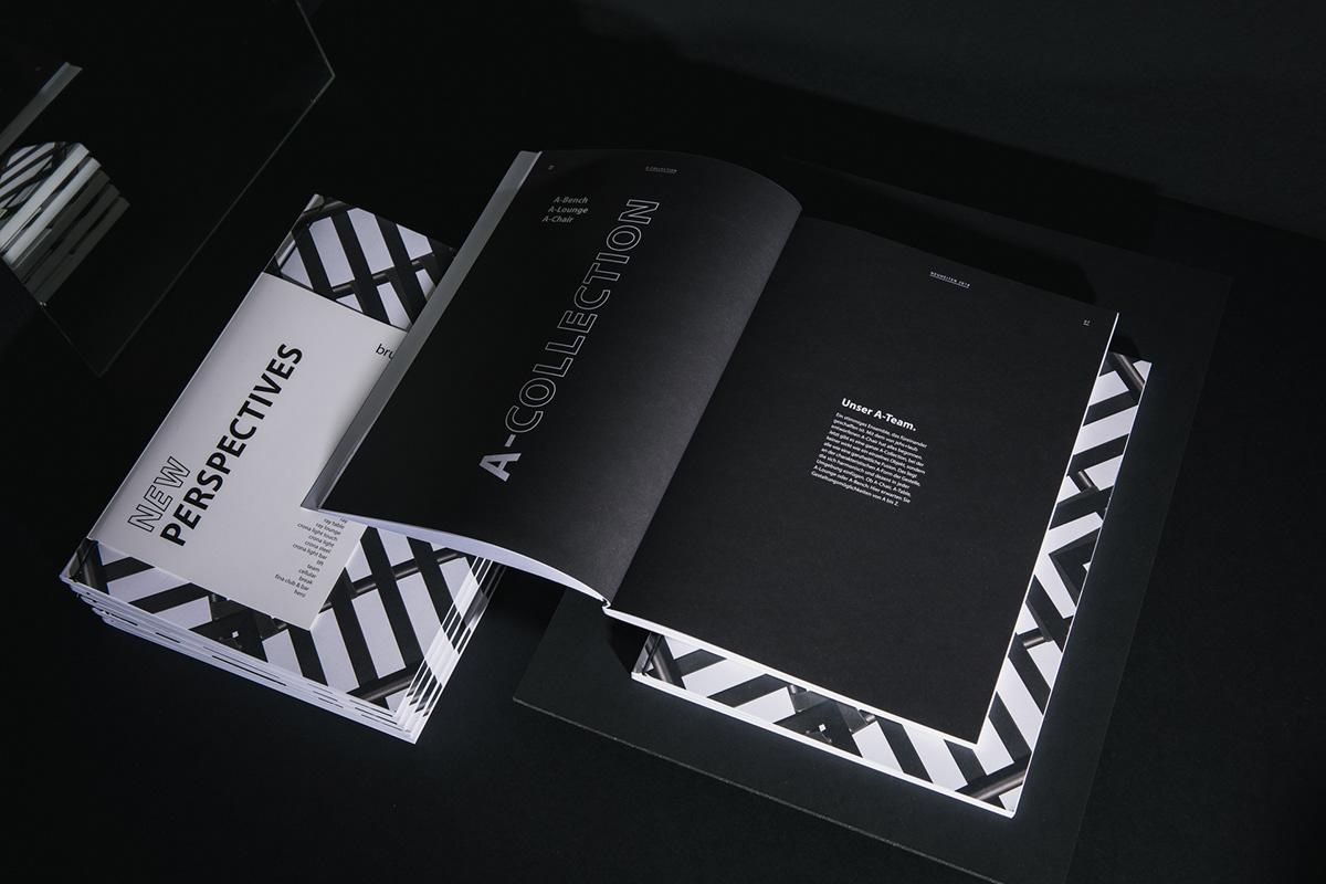 Jung von Matt furniture branding  kaleidoscope Grafikdesign Fair communication concept Layout CGI editorial design