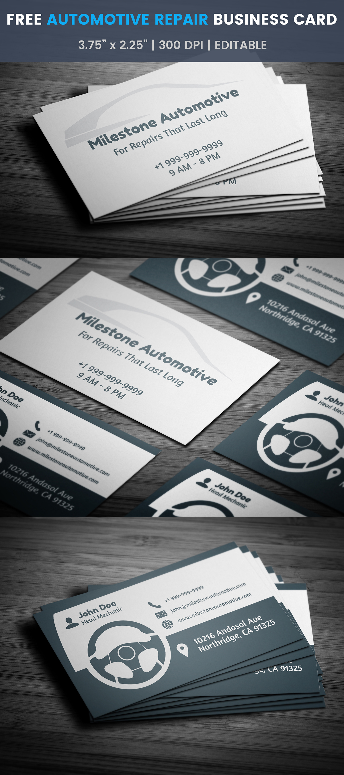 Free automotive business card template on student show free automotive business card template wajeb Choice Image