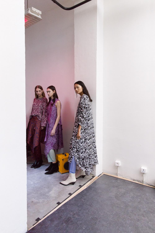 Christian Wijnants Dario Ruggiero nasty magazine paris fashion week Fashion  models backstage studio