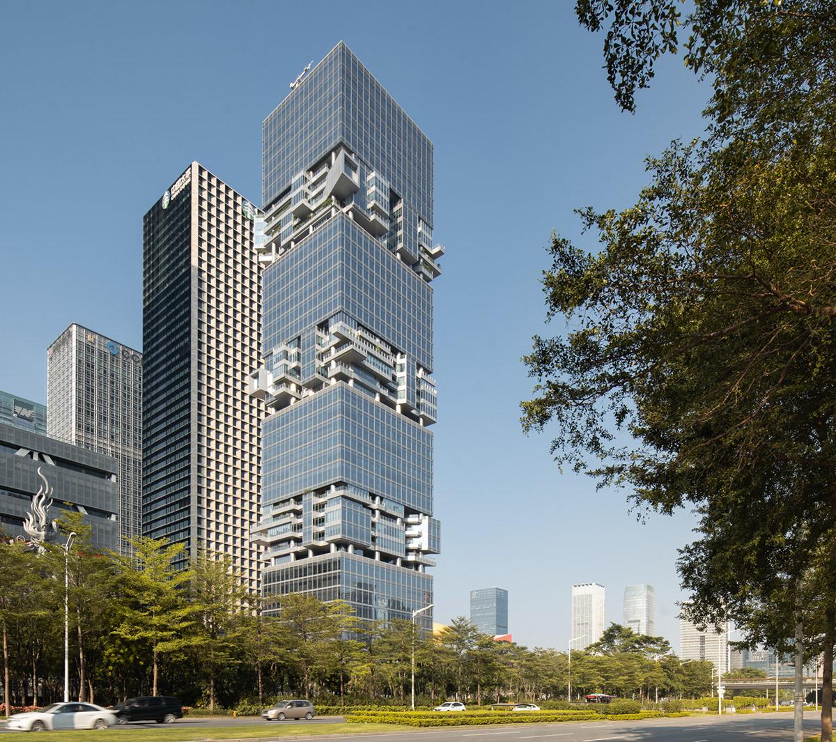 architecture china Christoph monschein Hans Hollein highrise sbf tower Shenzhen