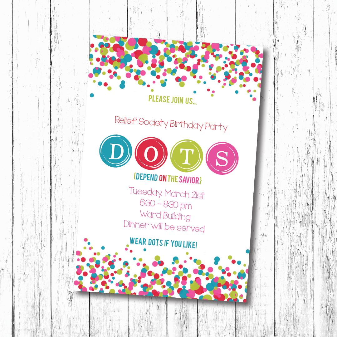 D O T S Relief Society Invitation On Behance