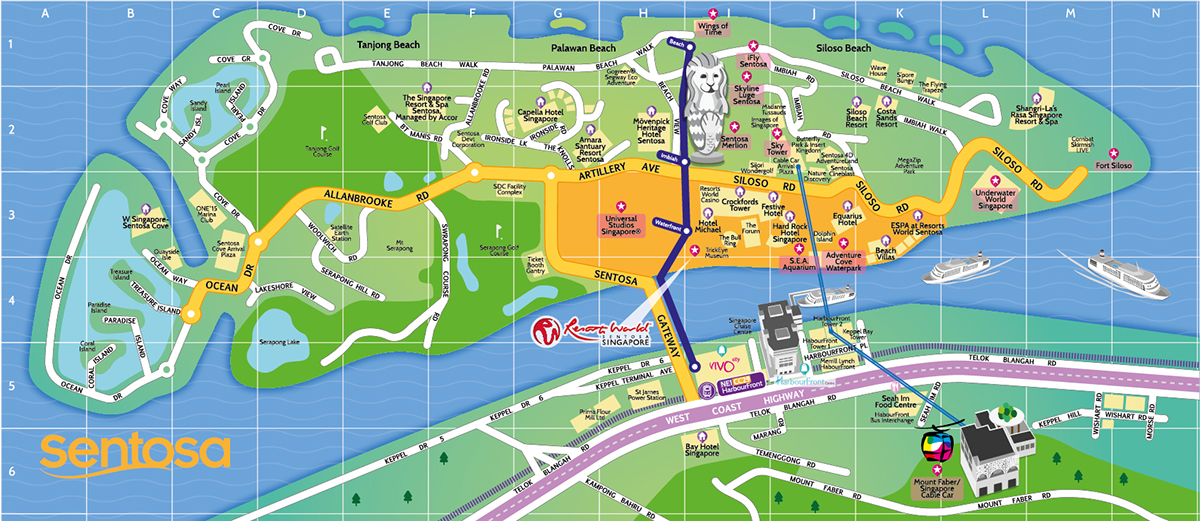 Tourist Map of Sentosa Singapore on Behance – Tourist Map Of Singapore City