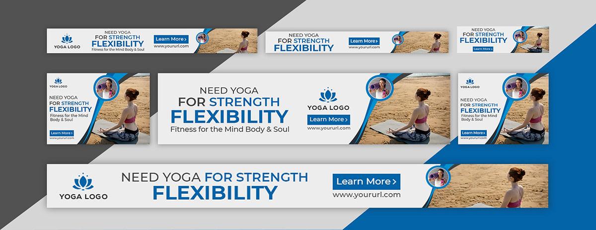 Yoga Web Banner Or Banner Ads Design On Sdm Creative Collective