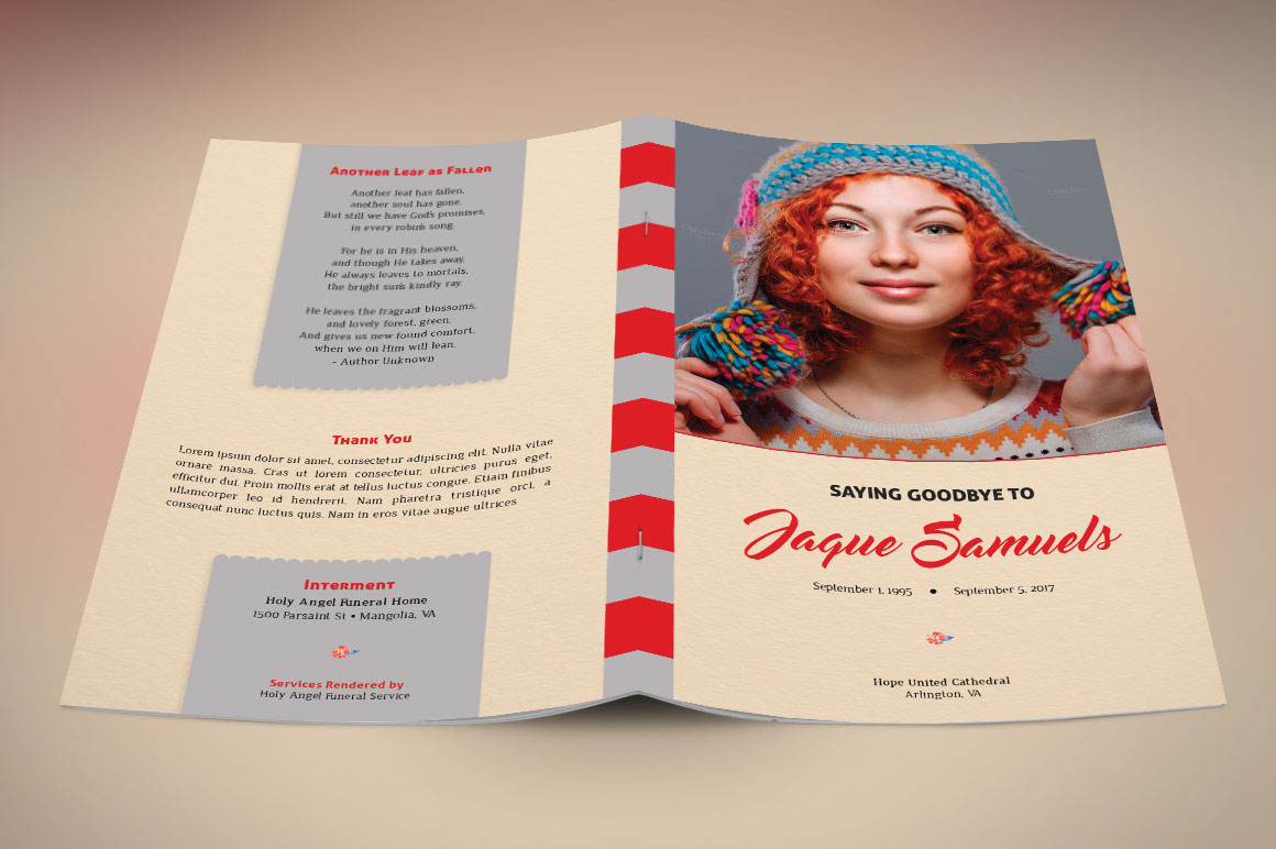 Goodbye Funeral Program Template on Behance – Funeral Cards Template