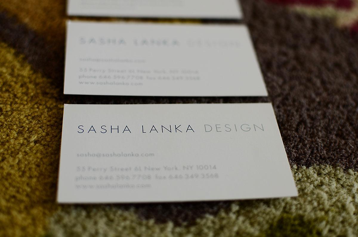 Stationery design for Interior Designer