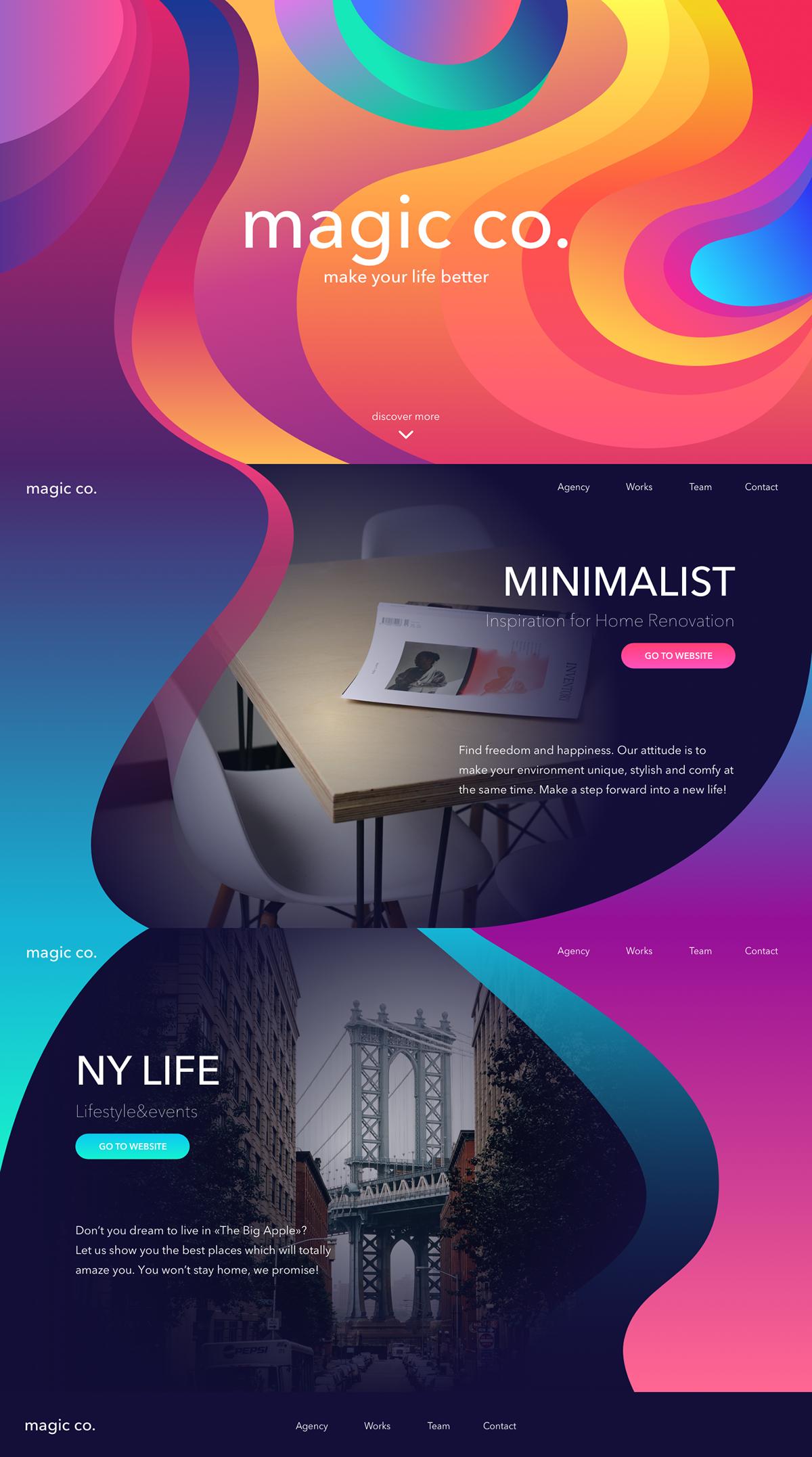 branding  design graphic design  ILLUSTRATION  3D trends 2018 designs gradient Patterns