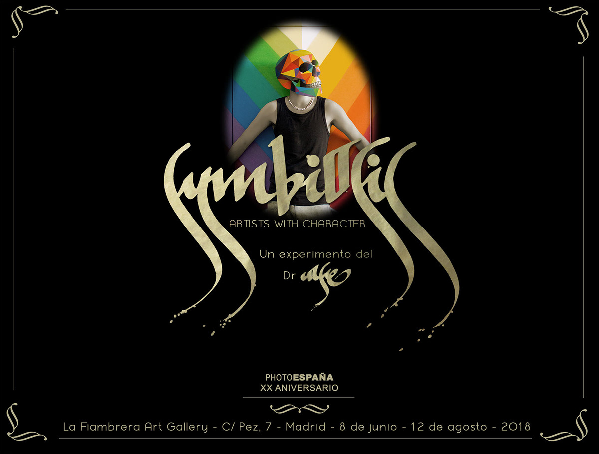 symbiosis Photoespaña La Fiambrera Justin Case artists with character sergio Mora D*Face anthony liter Borondo animalitoland