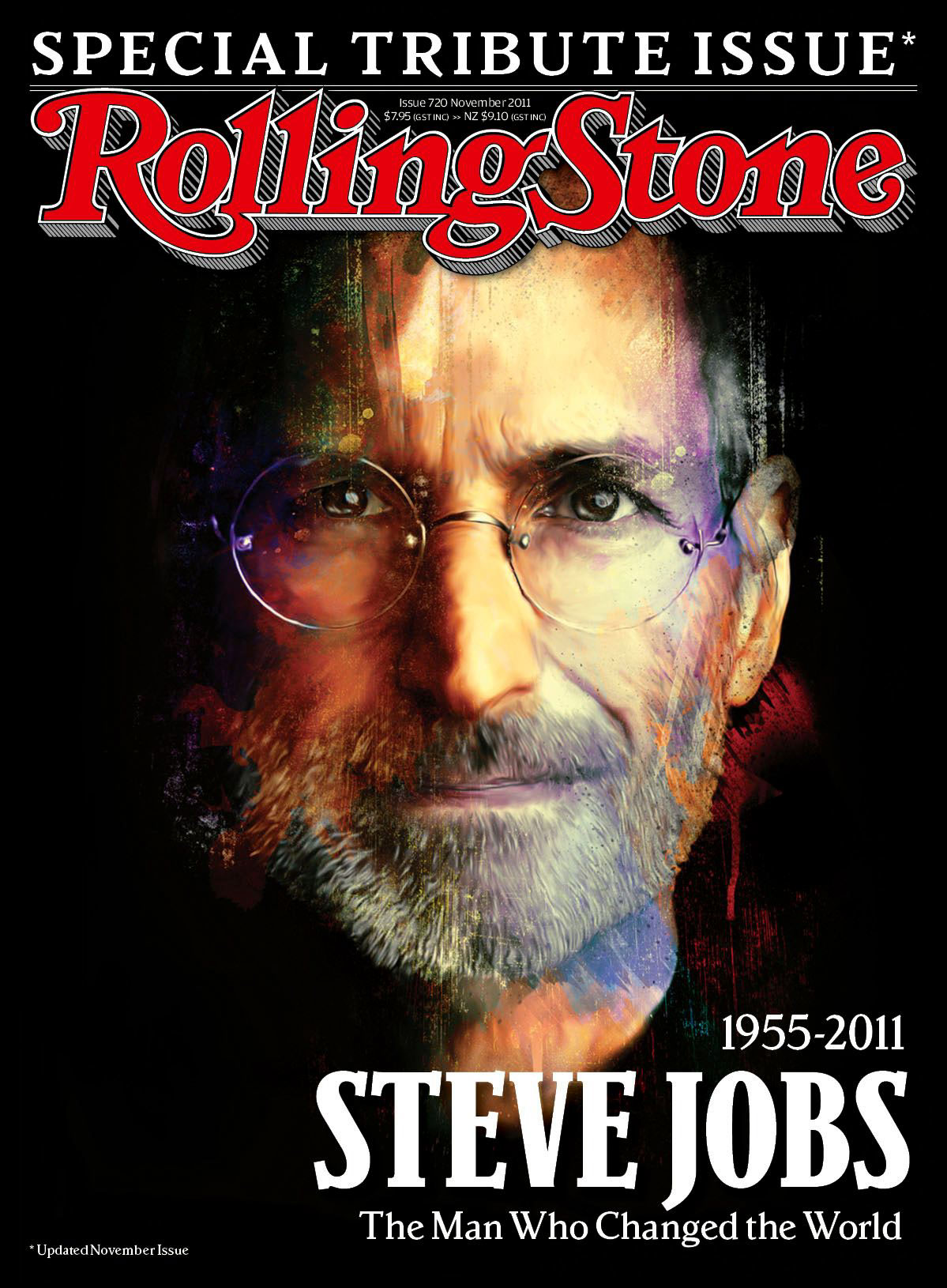Steve jobs on behance for Rolling stone magazine cover template