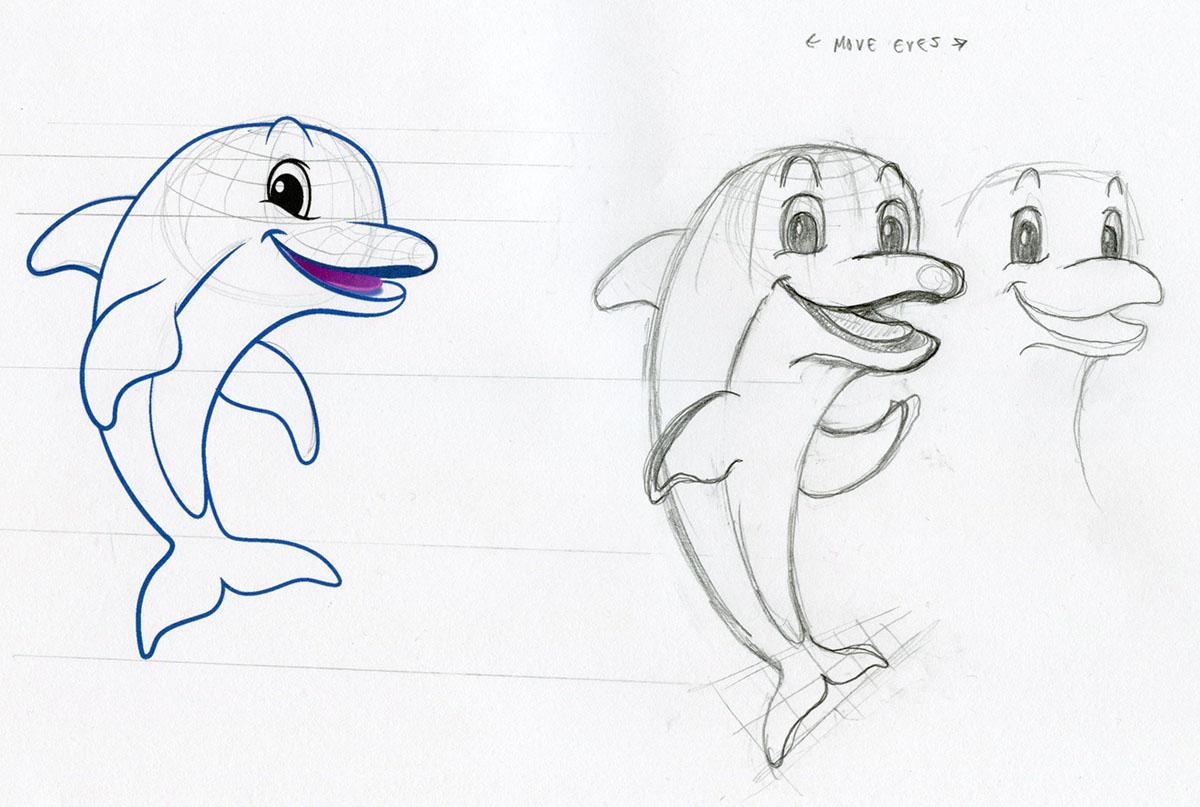 characters Mascots mermaid dolphin beach Tropical