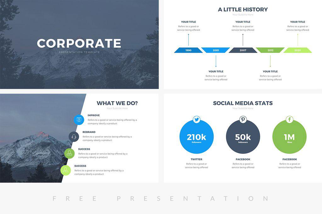 Free Presentation Template free powerpoint free keynote template free google slides professional powerpoint template best free template business minimal pitch deck infographics