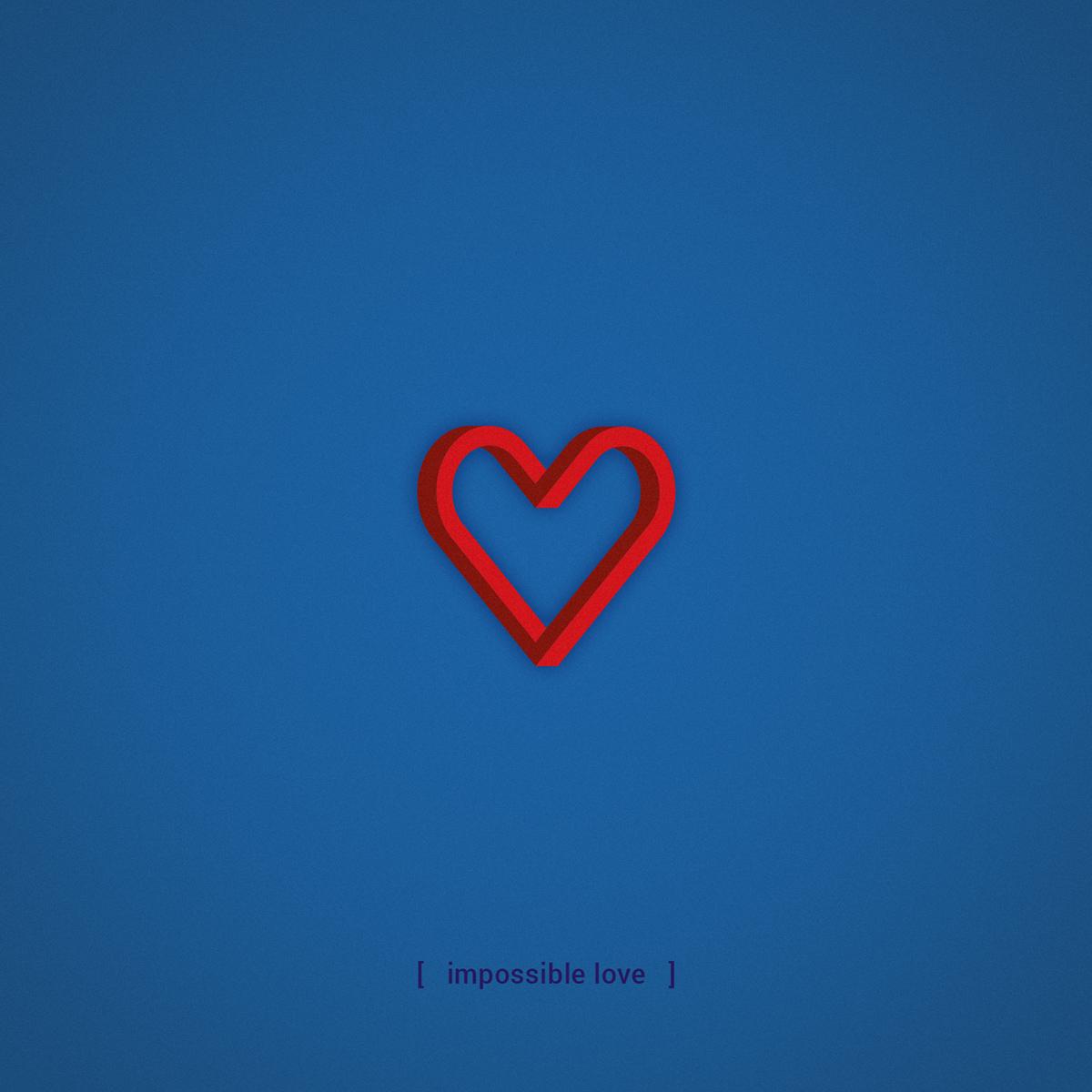 Heart Shaped Love On Behance