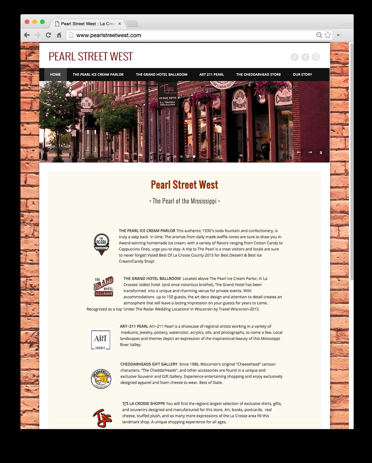 Pearl Street West: Web Design & Development