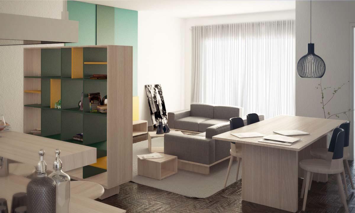 Interior living 3D Render vray 3dsmax photoshop salotto interiordesign design fotografia digitale