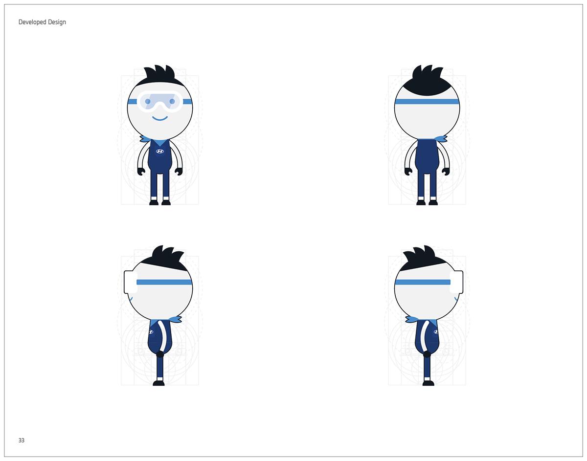Character Design Manual : Hyundai motors character design guide book official on