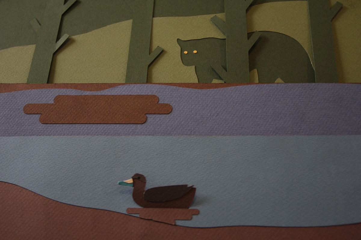 pantano papercrafts Tapir crocodile birds