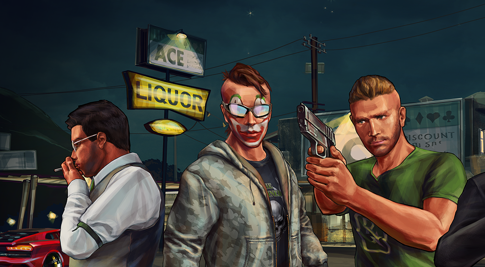 Gta online characters part 3 the damned brotherhood on behance voltagebd Images