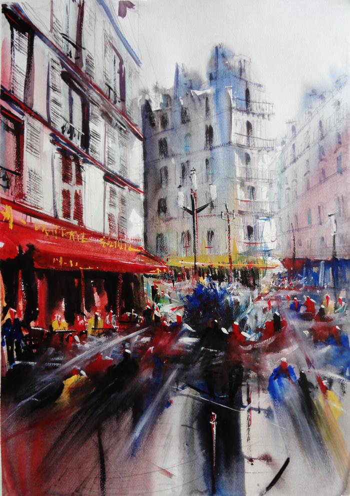 New Montmartre Serie (Paris) - Watercolor paintings on Behance YA67