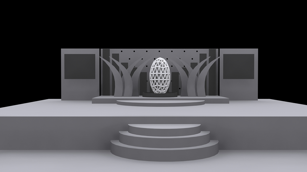3d stage model concept design on student show