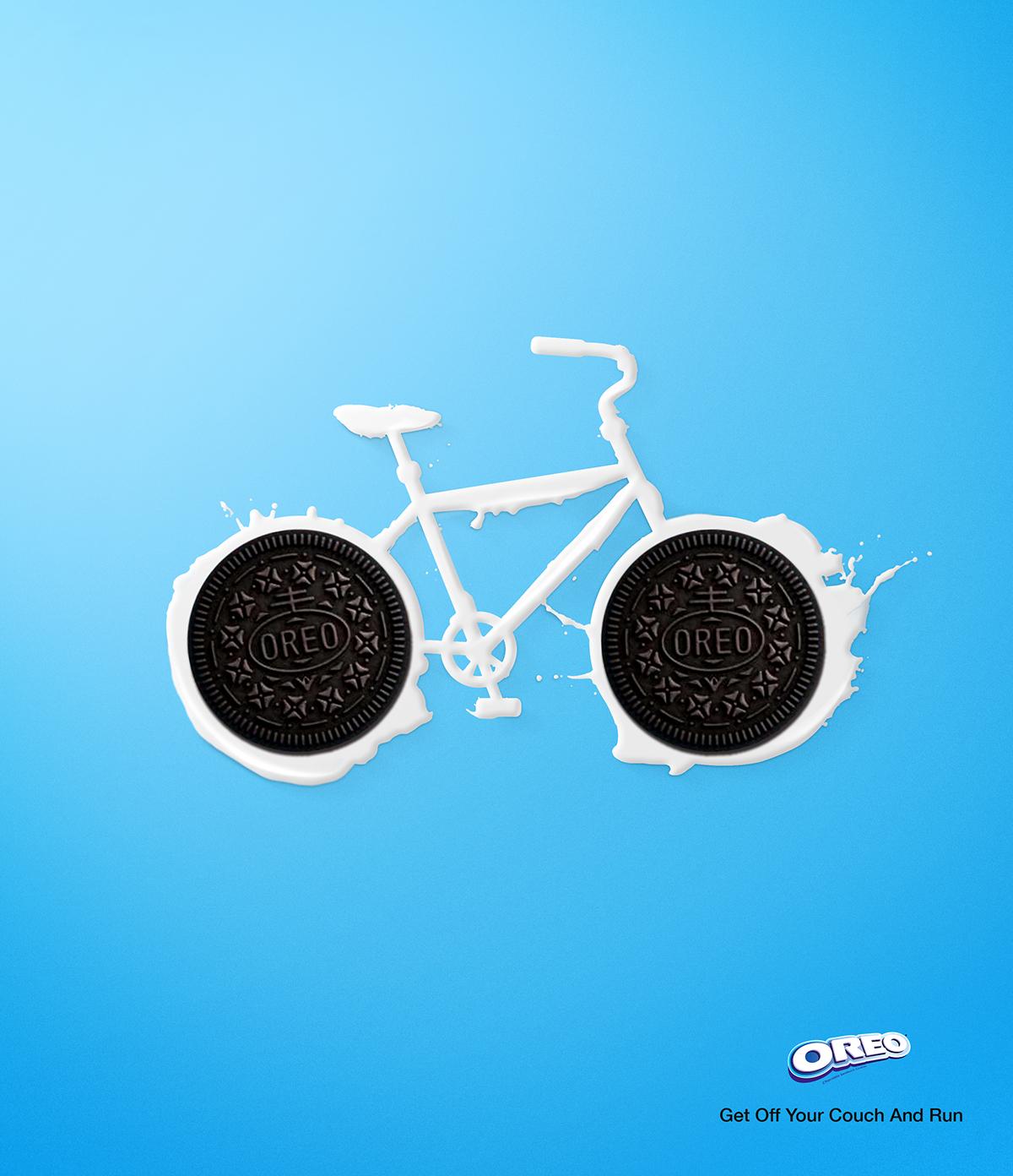 oreo biscuits milk Bike ads ad