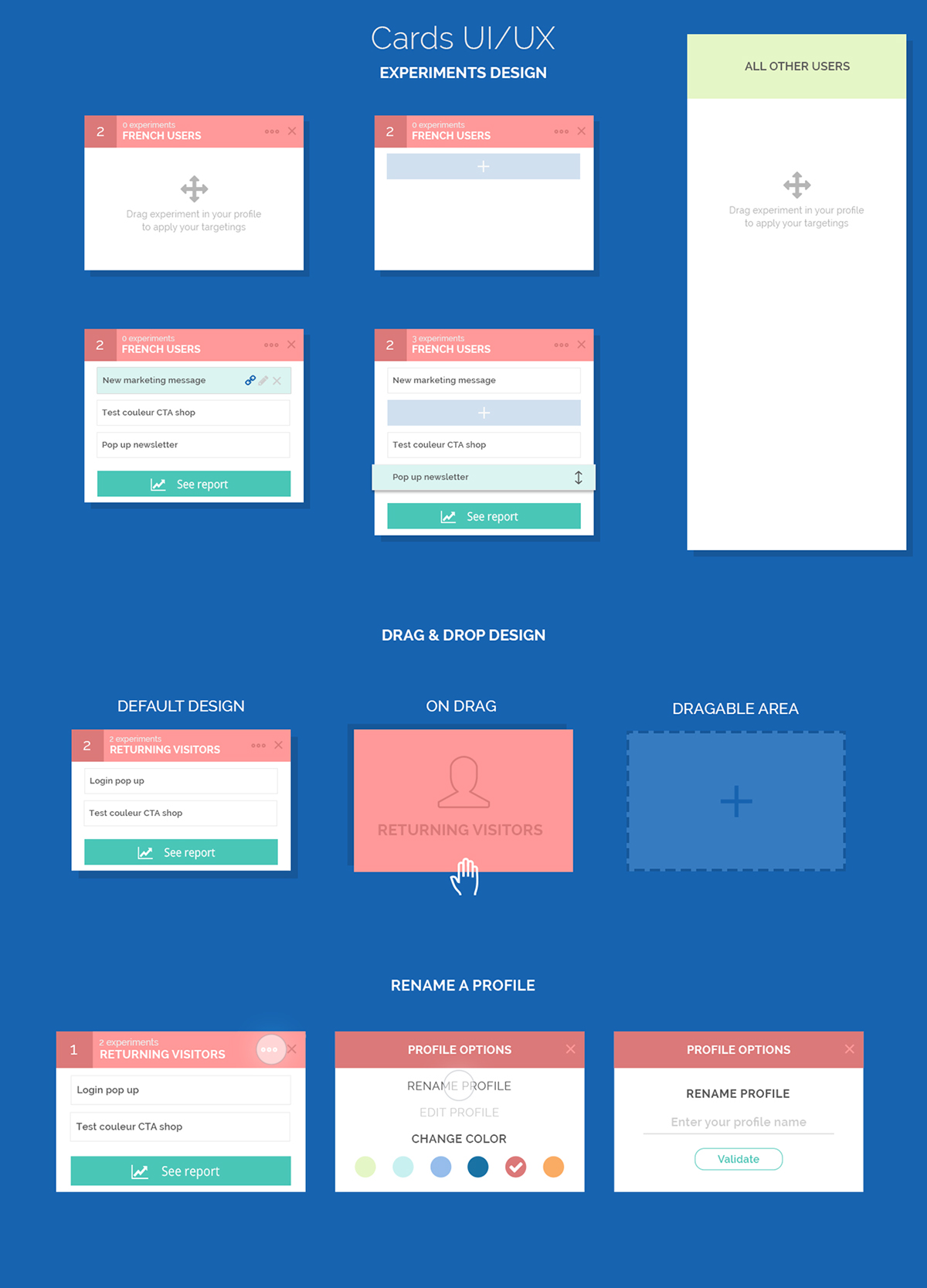 Adobe Portfolio UI ux dashboard user+experience user-interface photoshop reporting cards
