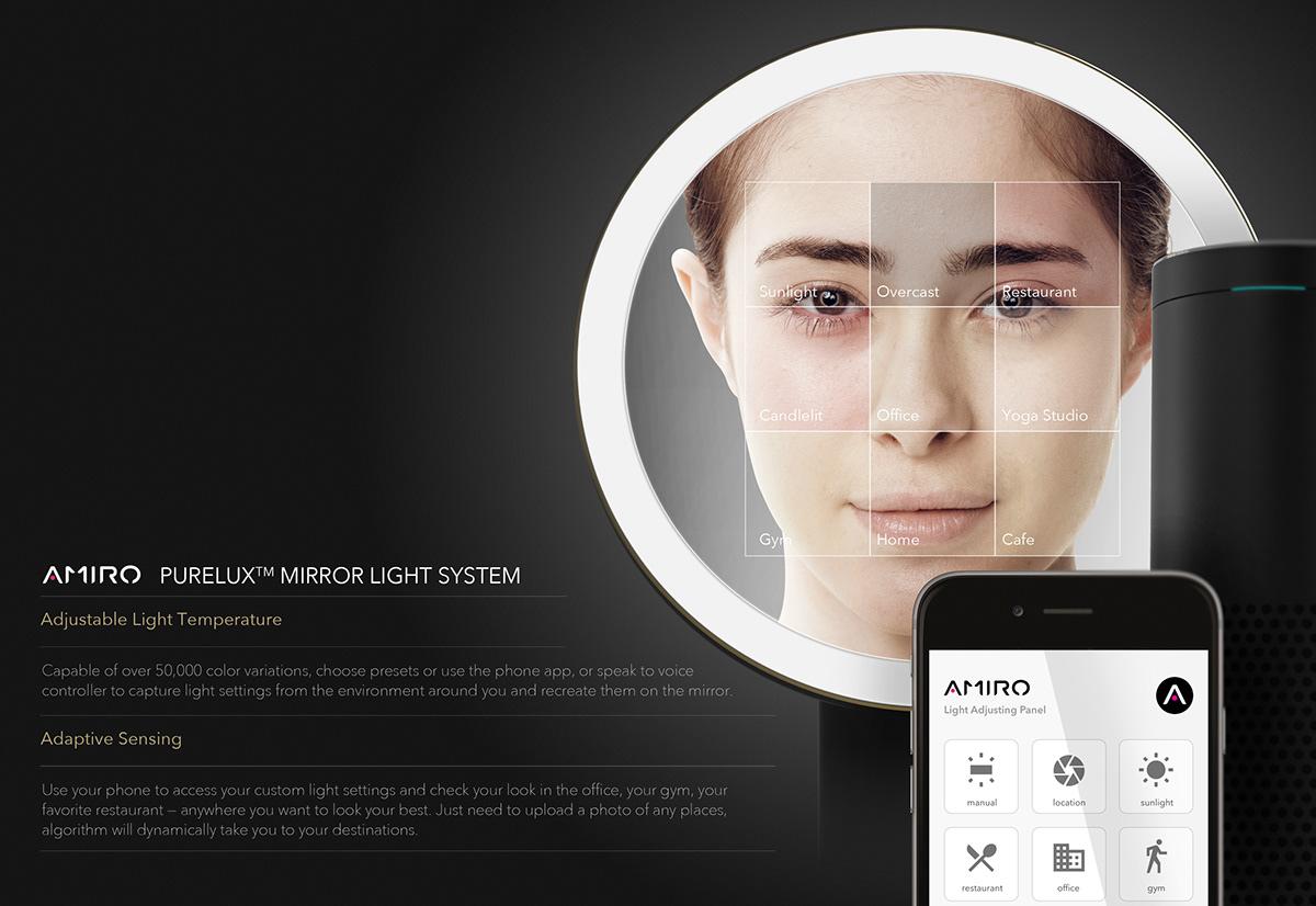 beauty product women led mirror makeup skincare Shenzhen xiaomi reddot if idea