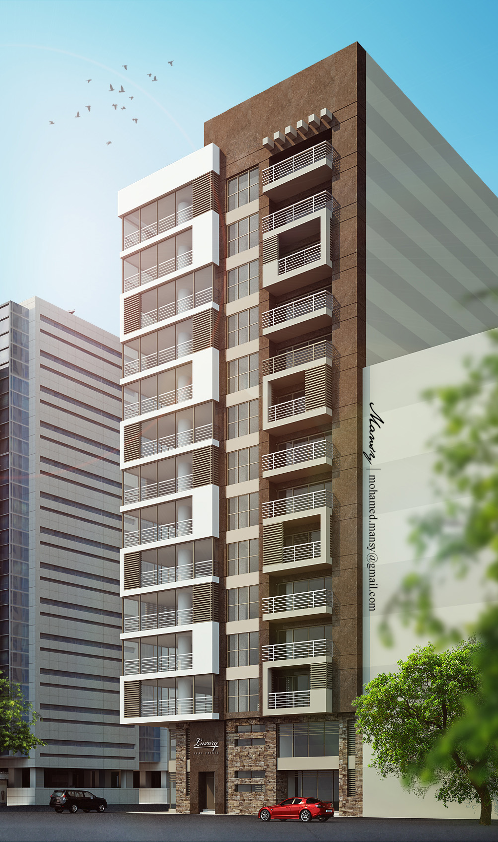 Luxury high rise residential apartment building on behance for Luxury barn builders